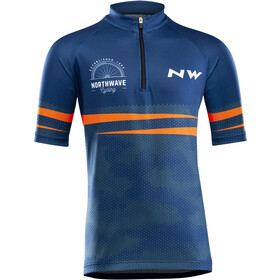 Northwave Origin Maillot Manches courtes Enfant, blue/orange